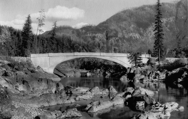 The Old Bridge West Glacier 1920's