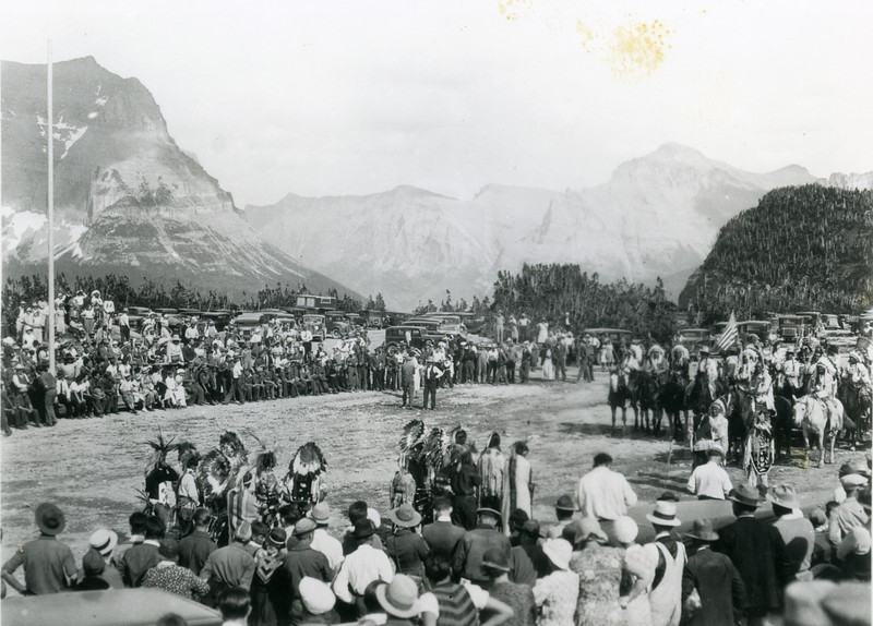 July 15, 1933 Special Ceremony of the Opening of Going to the Sun Road