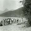 Ferde Greene Photo<br /> 7/27/1922 6PM, Embworth League Convention Lake McDonald, Montana<br /> f32 1/25<br /> 5372
