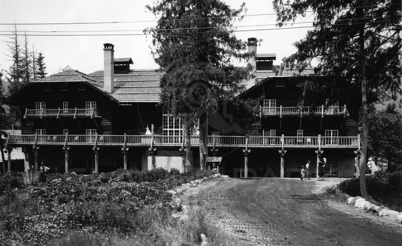Lewis Hotel later none as Lake McDonald Lodge<br /> R E Marble Photo<br /> MA-0132