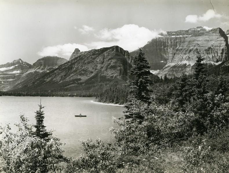 Crossley Lake, Belly River, Glacier National Park<br /> Photo by Hileman<br /> 5077