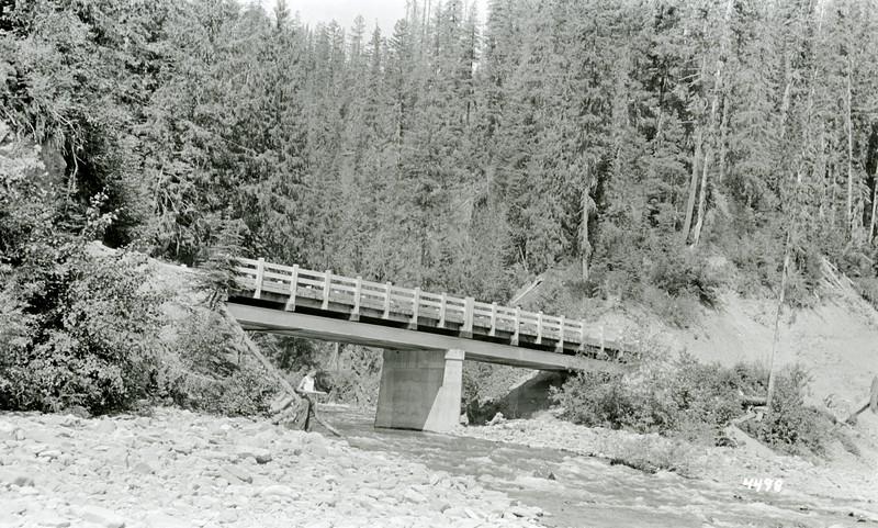 Ferde Greene Photo<br /> 7/17/1935 Melvin Greene at Canyon Creek Bridge<br /> 4498
