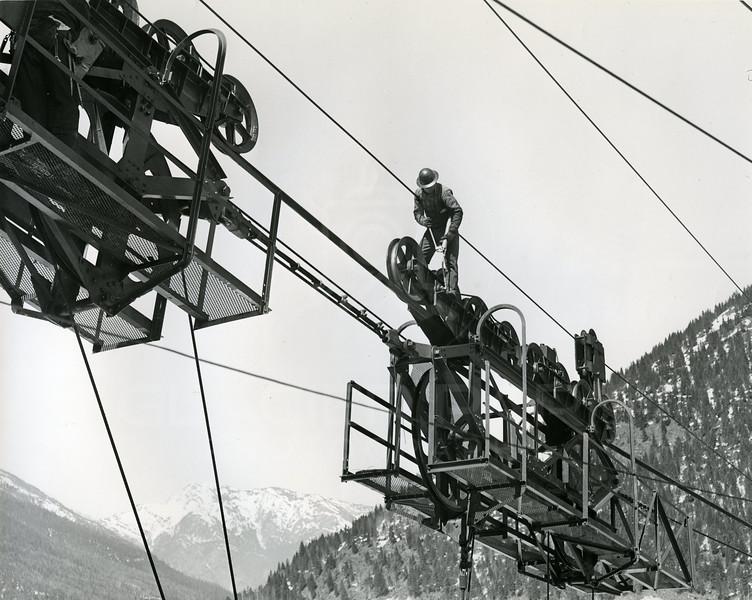 Men working on the dam
