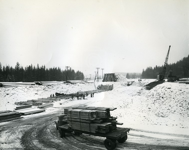 Supplies for Hungry Horse Dam Build