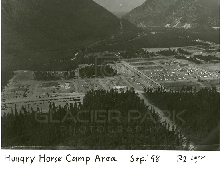 Aerial View of Hungry Horse Camp Area