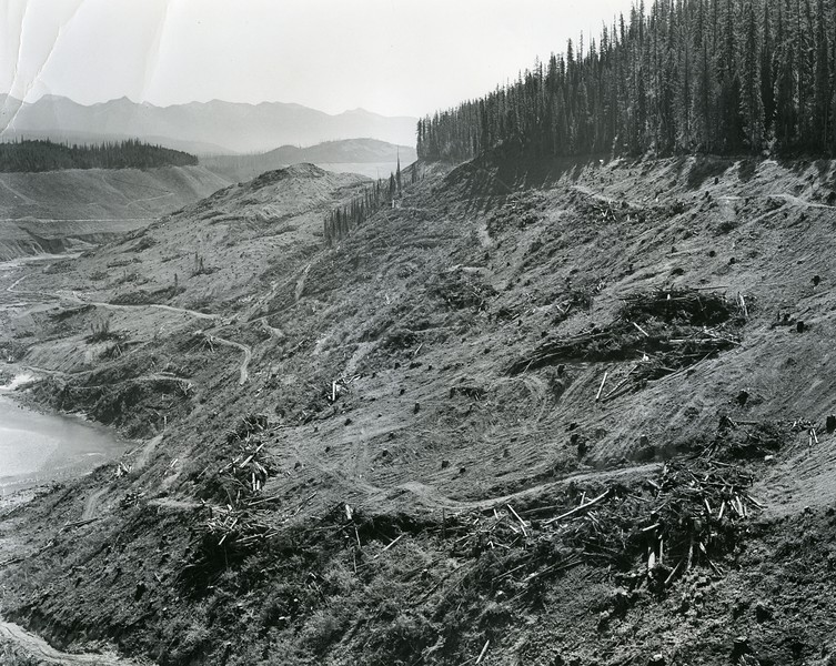 Logging work near the Hungry Horse Dam Project