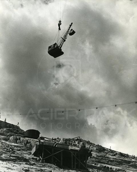 Flying equipment across