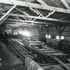 Worker's making lumber Hungry Horse Dam