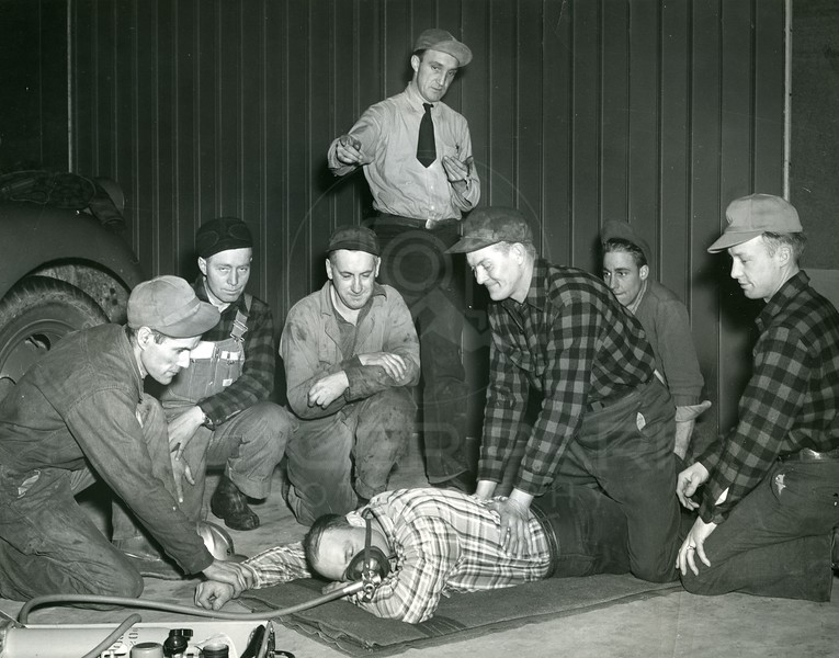 Safety Class for workers on Hungry Horse Dam