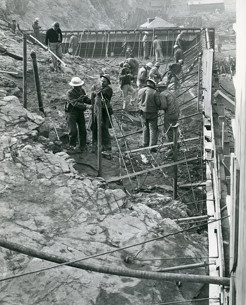 Worker's on Hungry Horse Dam