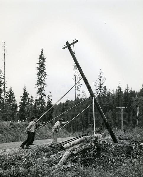 Raising Power Poles