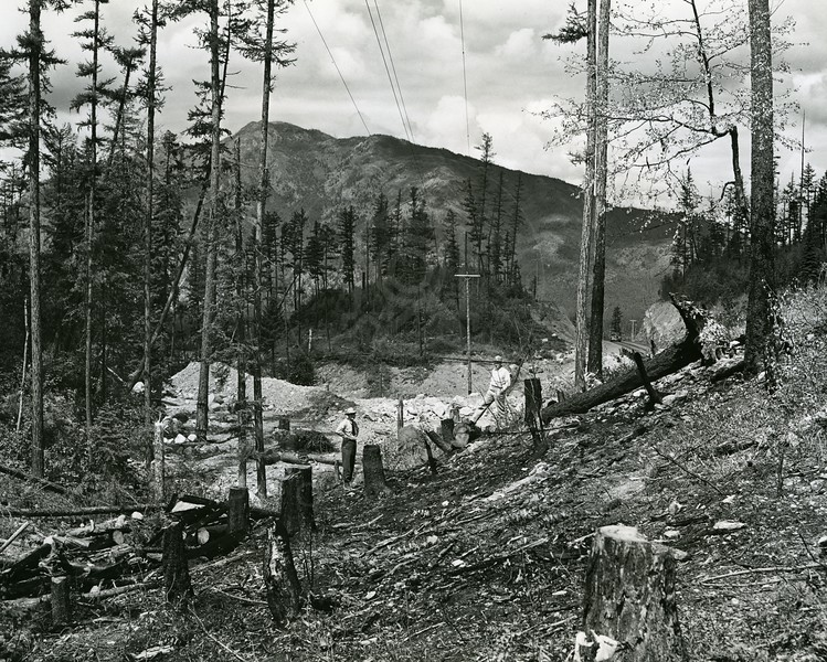 Logging for Hungry Horse Dam Project
