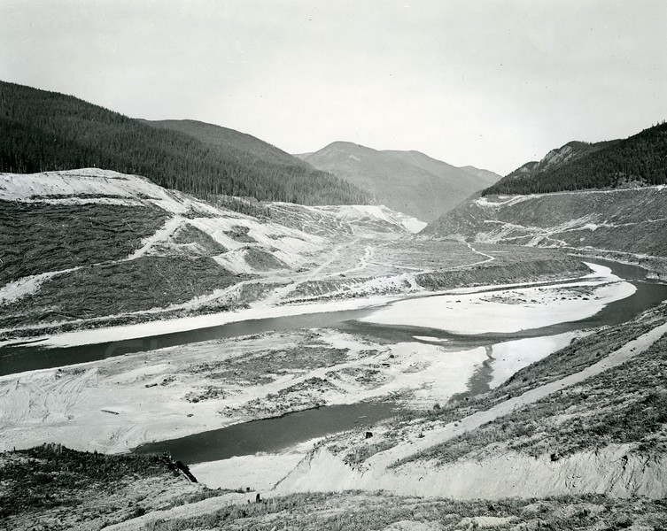 South Fork River being made into a Hungry Horse Reservoir