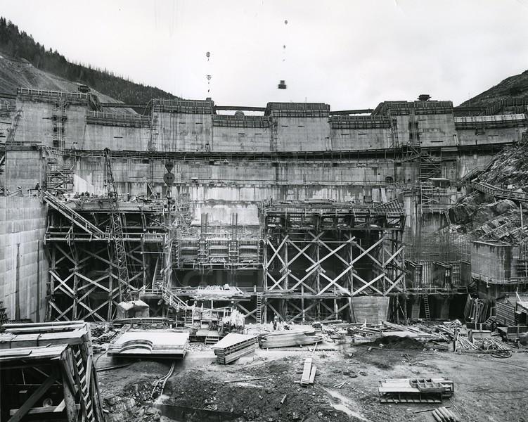Hungry Horse Dam taking shape