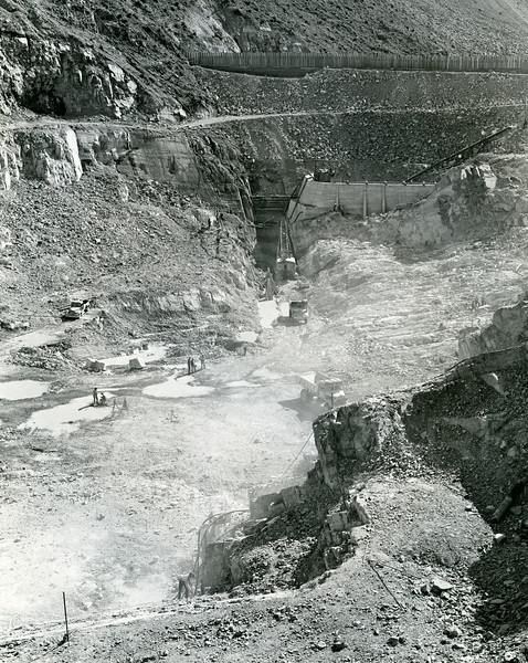 Building the base of Hungry Horse Dam