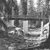 Man standing on bridge near Hungry Horse
