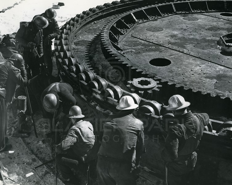 Men working on Building Hungry Horse Dam