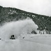 SnoGo blowing snow from the top of Hungry Horse Dam