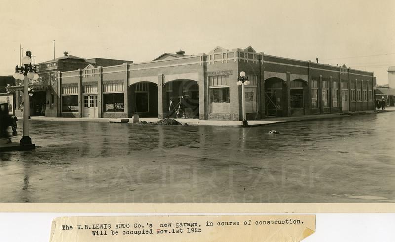 WB Lewis Auto Co's 11/1/1925