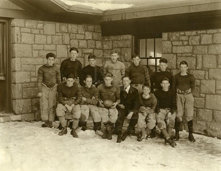 Flathead High Football Team 1919<br /> Left first row Ted Cuffe<br /> 9208