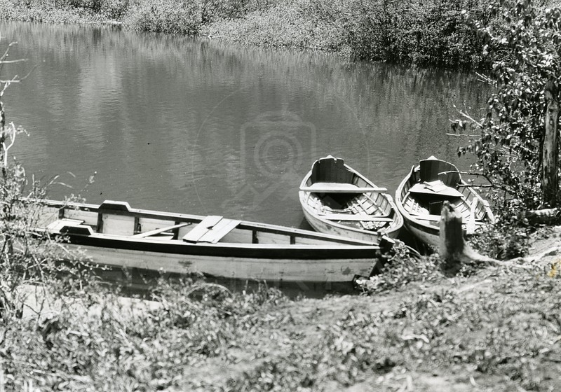 Ferde Greene Photo<br /> Canoes 1914<br /> 5172