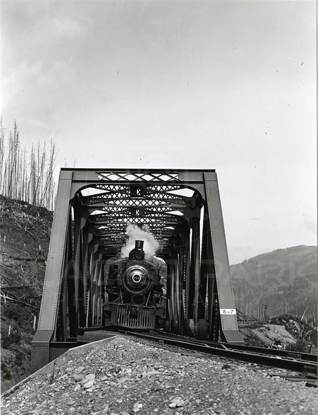 Ferde Greene Photo<br /> Bridge across river at Michel BC<br /> 250