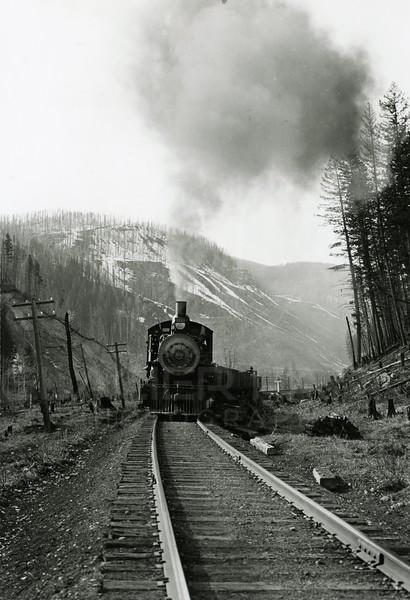 Ferde Greene Photo<br /> 1913 Train Steam Engine<br /> 4112