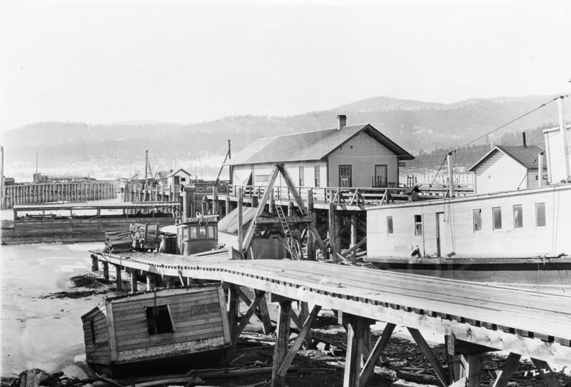 Ferde Greene Photo<br /> 3/27/191511 AM Somers, Montana Dock & Depot<br /> 1/25 f11<br /> 1222