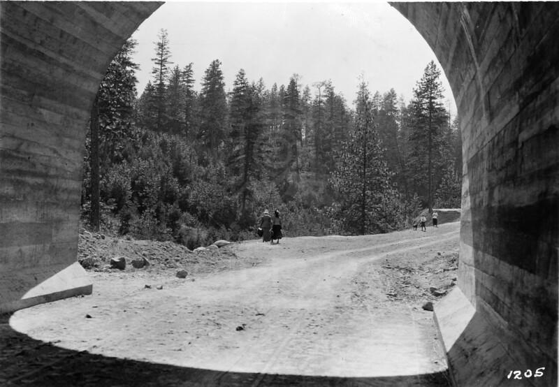 Indian Tunnel under Milwaukee Bridge, Spokane 1915