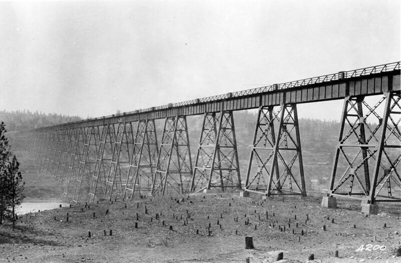 Milwakee Bridge, 1915 Spokane, Washington