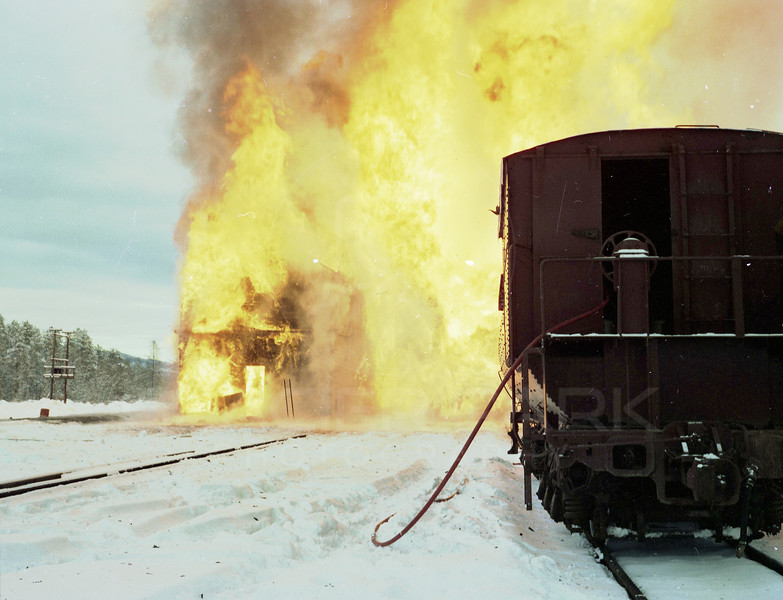 Burning of the Great Northern Railway Icehouse