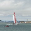 Luna Rossa team at the limits and won todays race of the semi finals.