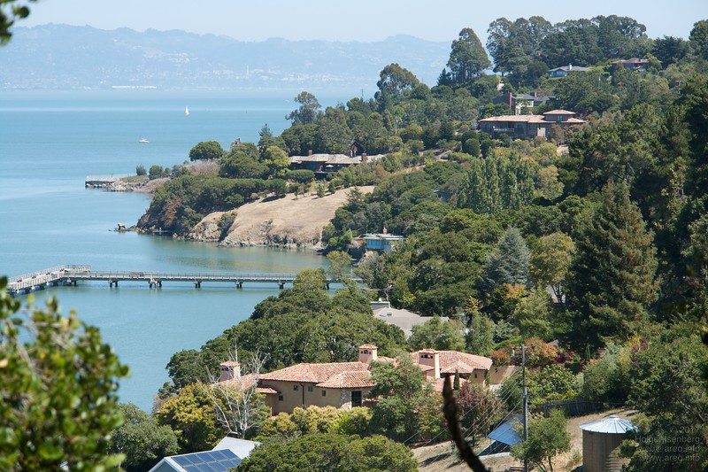 Mediterranean-like views and climate on Paradise Dr around the Tiburon peninsula