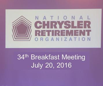 34th Breakfast Meeting July 20, 2016
