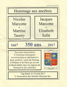 The next several pages are accompanying materials for the bus circuit to lands and Marcotte houses in the Portneuf area, which includes Cap-Santé, Neuville, Grondines, Portneuf, Deschambault, and Donnaconna, and a few other small communities