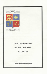 This is the cover of the handout for the Catholic Mass, which was led by father Jacques Marcotte.  The next several pages are the program notes and liturgy used during that mass.
