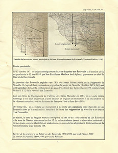 This page discusses the diffrences in the parish boundary with that of the Seigneurie boundary, that caused the slightly-misplaced 1667-1697 granite monument in Neuville.