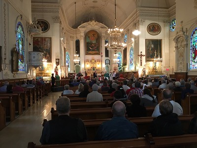 Inside the church of Sainte-Famille (Holy Family), a mass of Celebration was held at 10:30 a.m.