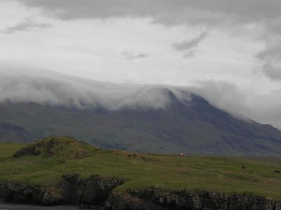 Clouds rolling over Esjan
