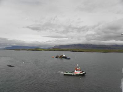 Viðey Island with Esjan Mtn behind