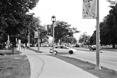 Milwaukee Cityscape on Black and White 35mm Film Photograph 113