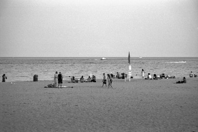 Milwaukee Cityscape on Black and White 35mm Film Photograph 9