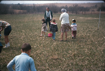 Theresa In Easter Egg unt At Harveyville, KS, Easter 1966.  April 10, 1966