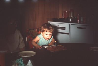 Carey Sue On Her First Birthday.  August 12, 1966