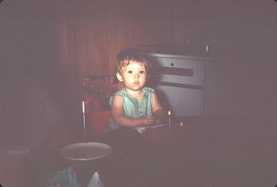 Carey Sue Turner On Her First Birthday.  August 12, 1966