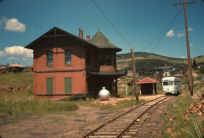 Cripple Creek, CO Railroad Station Now Used As Museum. Colorado Vacation.  August, 1965