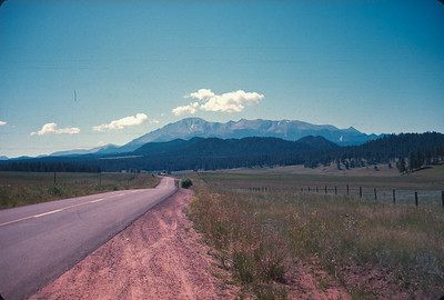Pikes Peak From The North (Newly Constructed I-25). Colorado Vacation.  August, 1965
