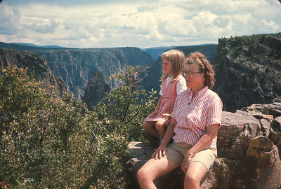 Dorothy and Theresa At Black Canyon Of The Gunnison,  Colorado Vacation.  August, 1965