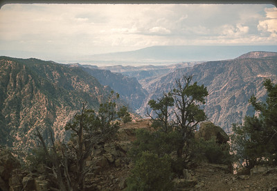 Black Canyon Looking to West Downstream From Warner PT,  Colorado Vacation.  August, 1965