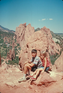 Wayne And Theresa At Garden Of The Gods,  Colorado Vacation.  August, 1965